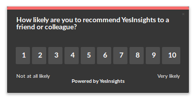 yesinsights nps feedback widget